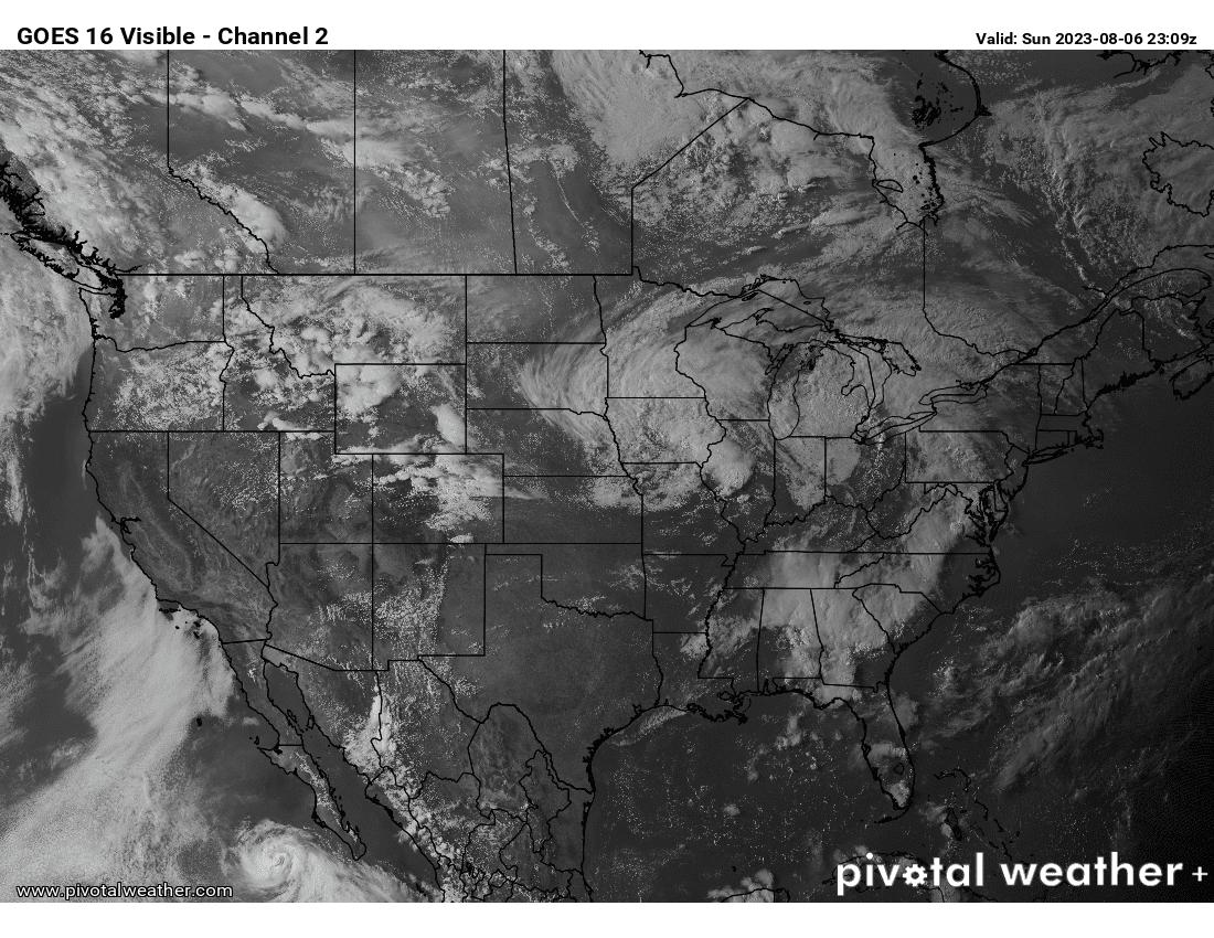 USA Visible Satellite Image