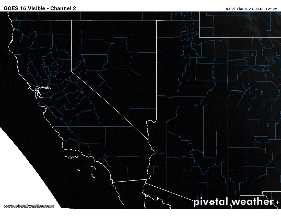 California Visible Satellite View